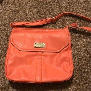 Coral crossbody purse